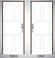 design The door on white and grey background vector image