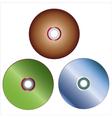 dvd discs vector image