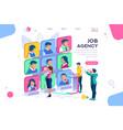 employee job agency concept vector image vector image