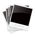 Empty shiny photo frames Polaroid vector image vector image