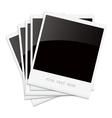 Empty shiny photo frames Polaroid vector image