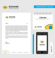 eye business letterhead calendar 2019 and mobile vector image vector image