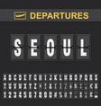 flight info destination south korea flip vector image