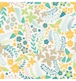 Flower seamless pattern with cute elements