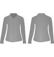 gray women shirt long sleeve vector image vector image