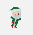 green santa claus something sick and dizzy vector image vector image
