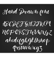 hand drawn calligraphic font Handmade vector image vector image