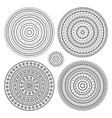Hand drawn Circular pattern Mandala set vector image vector image