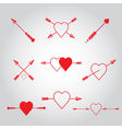 Happy valentines day cards with arrow vector image vector image