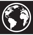 Icon of black and white globe vector image vector image