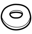 isolated bagel outline vector image