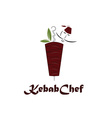 kebab chef vector image