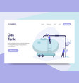 landing page template of gas tank concept vector image vector image
