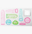 latex condoms aids protection vector image