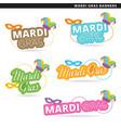 mardi gras banners vector image