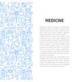 medicine line pattern concept vector image