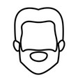 monochrome contour of male faceless with short vector image vector image