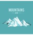Mountains snow vector image