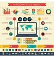 Nostalgic music infographic presentation print vector image