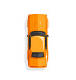 orange cartoon muscle car vector image
