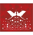 Pair of doves in love vector image vector image