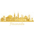 paramaribo suriname city skyline silhouette with vector image vector image