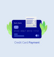 payment credit card vector image vector image