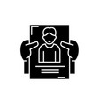 personnel management black icon sign on vector image vector image