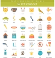 pet color flat icon set Elegant style vector image vector image
