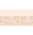 Pink roses horizontal seamless pattern background vector image vector image