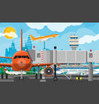 plane before takeoff vector image vector image