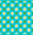 plumeria flowers on blue background seamless vector image vector image