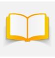 realistic design element book vector image