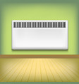 realistic detailed 3d metal heating radiator vector image