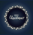 round christmas design with light bulb garland on vector image vector image