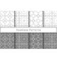 Set of 8 seamless patterns in ethnic style vector image vector image