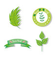 set of farm fresh label vector image