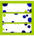 set three banners abstract headers vector image vector image