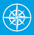 sign of compass to determine cardinal directions vector image vector image
