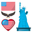 statue of liberty eagle and american flag vector image vector image