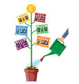 successful franchise business with money tree vector image vector image