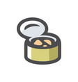 tin can with food icon cartoon vector image