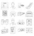 transport public equipment and other web icon vector image vector image