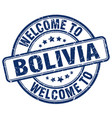 welcome to bolivia blue round vintage stamp vector image vector image