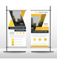 yellow triangle business roll up banner flat vector image vector image
