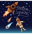 Outer space background vector image