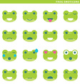 Frog emoticons vector image