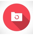 cycle folder icon vector image
