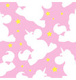 white unicorn pattern on pink vector image