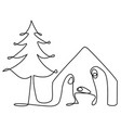 abstract nativity scene with holy family vector image vector image